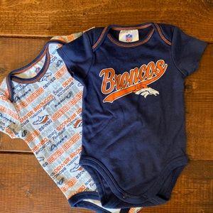 NFL Broncos baby onesies